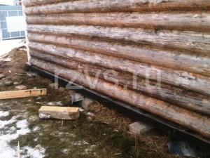 Фундамент деревянной бани на сваях